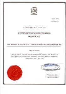 COI - The Kidney Society of SVG Inc 001